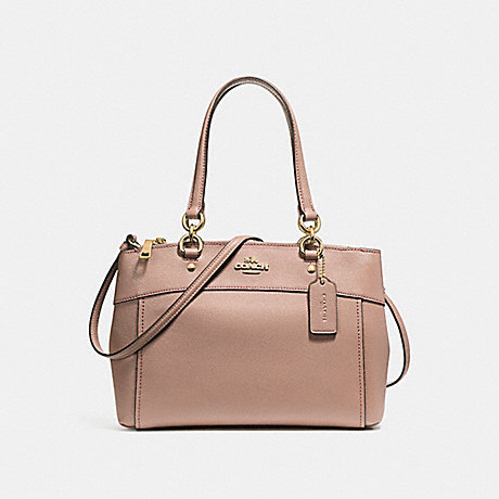 COACH f25395 MINI BROOKE CARRYALL LIGHT GOLD/NUDE PINK