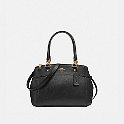 MINI BROOKE CARRYALL - f25395 - LIGHT GOLD/BLACK