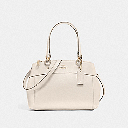 MINI BROOKE CARRYALL - f25395 - LIGHT GOLD/CHALK