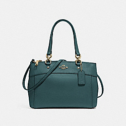 COACH F25395 - MINI BROOKE CARRYALL DARK TURQUOISE/LIGHT GOLD