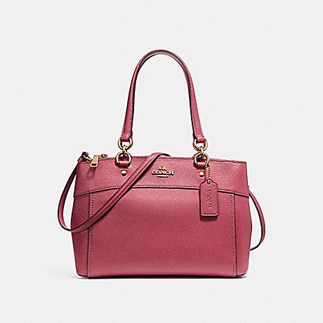 COACH f25395 MINI BROOKE CARRYALL LIGHT GOLD/ROUGE