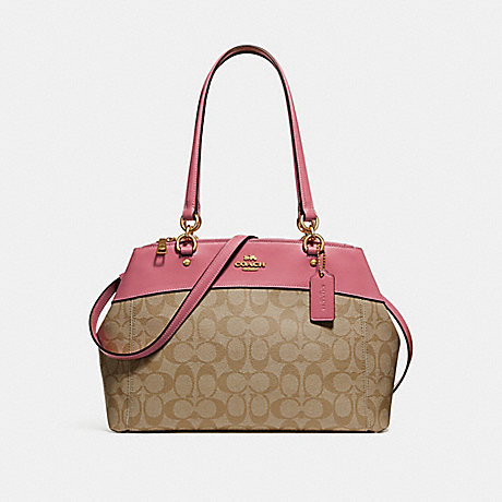 COACH F25396 BROOKE CARRYALL IN SIGNATURE CANVAS LIGHT-KHAKI/PEONY/LIGHT-GOLD