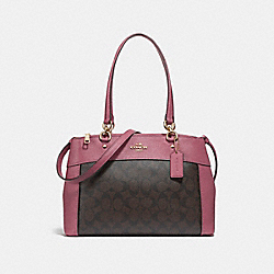 COACH F25396 Brooke Carryall LIGHT GOLD/BROWN ROUGE
