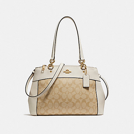 COACH f25396 BROOKE CARRYALL LIGHT GOLD/LIGHT KHAKI
