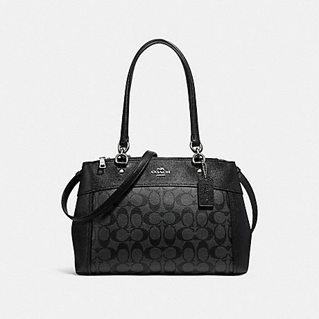 COACH f25396 BROOKE CARRYALL SILVER/BLACK SMOKE