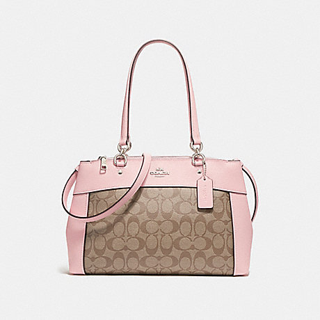 COACH f25396 BROOKE CARRYALL SILVER/KHAKI BLUSH 2