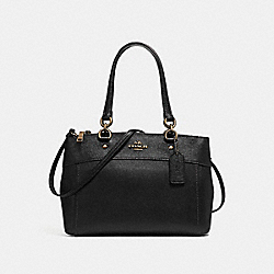 COACH F25397 - BROOKE CARRYALL BLACK/LIGHT GOLD
