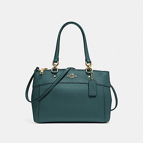 COACH F25397 BROOKE CARRYALL DARK-TURQUOISE/LIGHT-GOLD