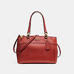 COACH F25397 Brooke Carryall LIGHT GOLD/DARK RED