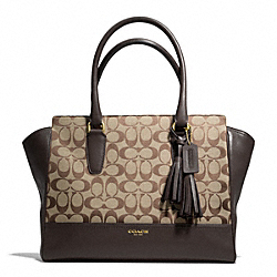 COACH F25402 - SIGNATURE MEDIUM CANDACE CARRYALL BRASS/KHAKI/MAHOGANY