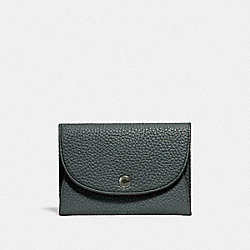 COACH F25414 Snap Card Case In Colorblock CYPRESS