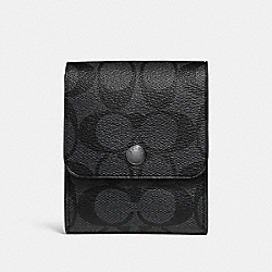 COACH F25433 Grooming Kit In Signature Canvas CHARCOAL/BLACK