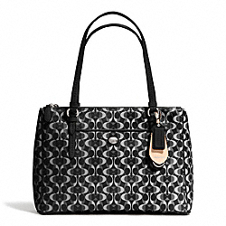 COACH F25457 Peyton Dream C Jordan Double Zip Carryall SILVER/BLACK/WHITE/BLACK