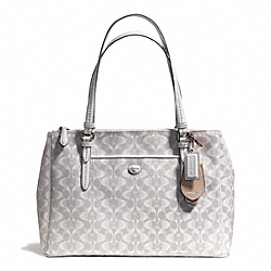 COACH F25457 Peyton Dream C Jordan Double Zip Carryall SILVER/DOVE/WHITE