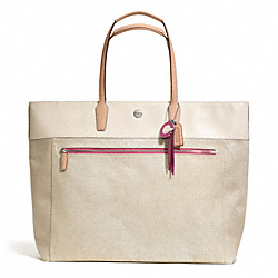 COACH F25460 - RESORT CANVAS LARGE TOTE ONE-COLOR