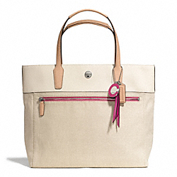 COACH F25461 - RESORT CANVAS SMALL TOTE ONE-COLOR