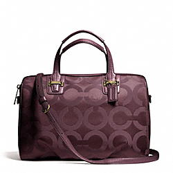 COACH F25503 Taylor Op Art Satchel BRASS/BORDEAUX