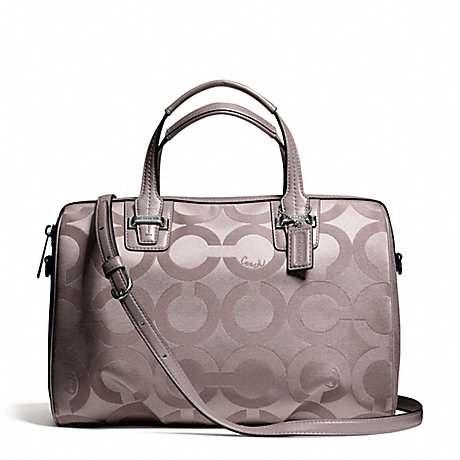 COACH f25503 TAYLOR OP ART SATCHEL SILVER/PUTTY
