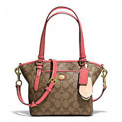COACH F25505 Peyton Signature Mini Pocket Tote
