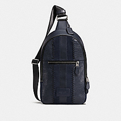 CAMPUS PACK WITH BASEBALL STITCH - F25512 - MIDNIGHT NAVY/BLACK ANTIQUE NICKEL