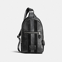COACH F25512 Campus Pack With Baseball Stitch BLACK/BLACK ANTIQUE NICKEL