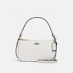 COACH F25591 Top Handle Pouch LIGHT GOLD/CHALK