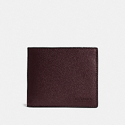 COACH F25605 3-in-1 Wallet OXBLOOD