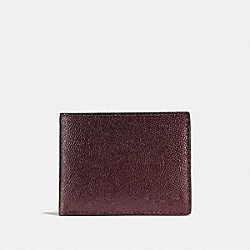 COACH F25606 Slim Billfold Wallet OXBLOOD