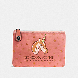 COACH F25617 Uni Turnlock Pouch 26 BP/MELON MULTI