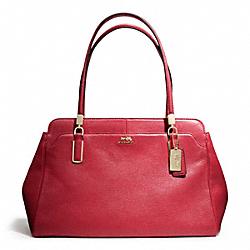 COACH F25628 - MADISON LEATHER KIMBERLY CARRYALL LIGHT GOLD/SCARLET