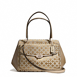 COACH F25632 Madison Madeline East/west Satchel In Op Art Sateen Fabric