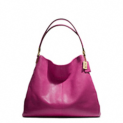 COACH F25635 - MADISON PHOEBE SHOULDER BAG IN LEATHER  LIGHT GOLD/CRANBERRY