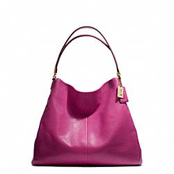 COACH F25635 Madison Phoebe Shoulder Bag In Leather  LIGHT GOLD/CRANBERRY
