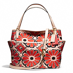 COACH F25643 Floral Scarf Print Baby Bag Tote