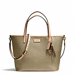 COACH F25663 - PARK METRO LEATHER SMALL TOTE ONE-COLOR