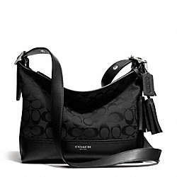 COACH F25664 - EAST/WEST SIGNATURE DUFFLE SILVER/BLACK/BLACK