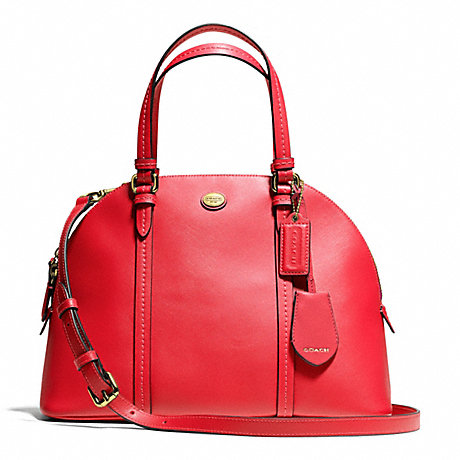 COACH f25671 PEYTON LEATHER CORA DOMED SATCHEL BRASS/PERMISSON