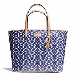 PARK METRO TOTE IN DREAM C COATED CANVAS - f25673 - SILVER/NAVY/TAN