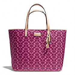 COACH F25673 - PARK METRO DREAM C TOTE SILVER/BORDEAUX/TAN