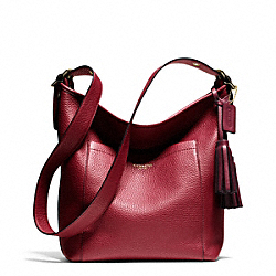 PEBBLED LEATHER DUFFLE - f25678 - 32052
