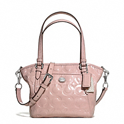 COACH F25702 Peyton Op Art Embossed Patent Mini Pocket Tote