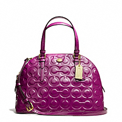 PEYTON OP ART EMBOSSED PATENT CORA DOMED SATCHEL - f25705 - 20089
