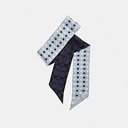 COACH F25714 - STAR PRINT SKINNY SCARF MIDNIGHT NAVY
