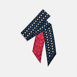 STAR PRINT SKINNY SCARF - f25714 - WATERMELON