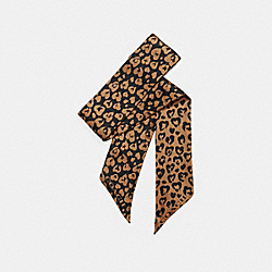 COACH F25715 Wild Beast Skinny Scarf NATURAL