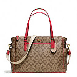 COACH F25741 - PEYTON SIGNATURE MULTIFUNCTION TOTE B4/PERSIMMON