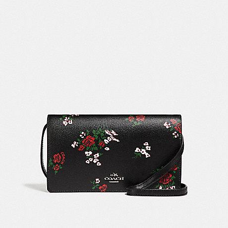 Coach Crossbody Clutch With Cross Stitch Floral Print Coach
