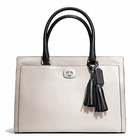 COACH f25806 TWO TONE LEATHER LARGE CHELSEA CARRYALL
