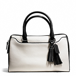 COACH F25807 - TWO TONE LEATHER HALEY SATCHEL SILVER/MUSHROOM/BLACK