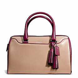 COACH F25807 Two Tone Leather Haley Satchel